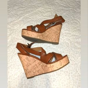 Rampage Brown Wedges | Size 7